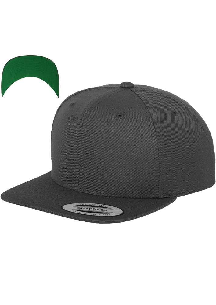 Snapback Cap besticken - Snapback Cap Classic dunkelgrau 6 PANNEAUX verstellbar