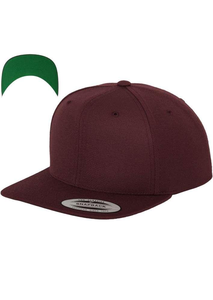 Snapback Cap besticken - Snapback Cap Classic dunkelrot 6 PANNEAUX verstellbar