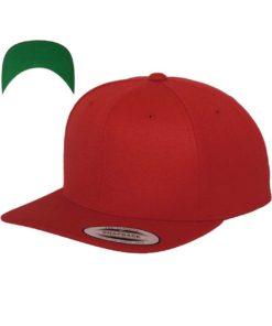 Snapback Cap besticken - Snapback Cap Classic Rot 6 PANNEAUX verstellbar