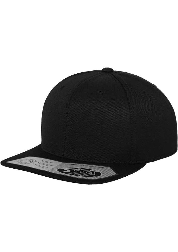 Premium Snapback Cap 110 Schwarz 6 panneaux, ajustable