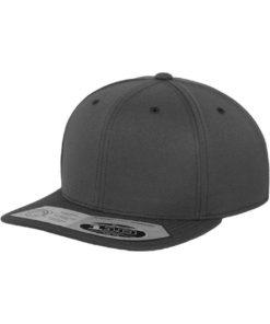 Premium Snapback Cap 110 Dunkelgrau 6 panneaux, ajustable