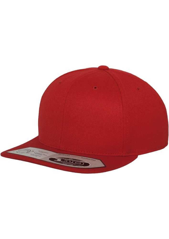 Premium Snapback Cap 110 Rot 6 panneaux, ajustable