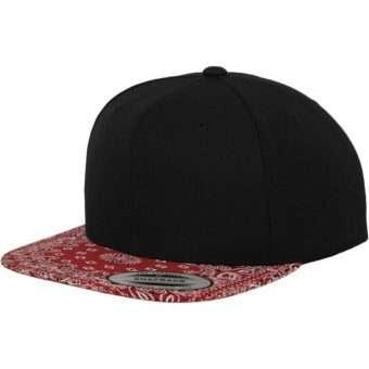 Snapback Bandana schwarz/rot, ajustable