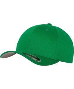 Flexfit Cap Wollmischung Pepper Green 6 PANNEAUX - Fitted