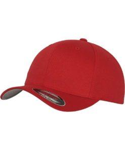 Flexfit Cap Rot Wollmischung - Fitted