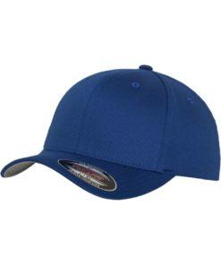 Flexfit Cap Royalblau Wollmischung 6 PANNEAUX - Fitted