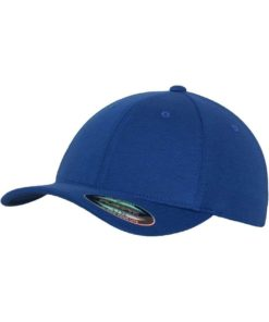 Flexfit Cap Double Strickjersey Blau - Fitted