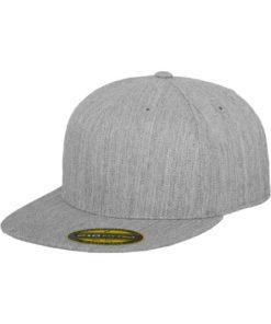 Premium Cap 210 Graumeliert 6 PANNEAUX - Fitted