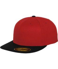 Premium Cap 210 Rot/Schwarz 6 PANNEAUX - Fitted