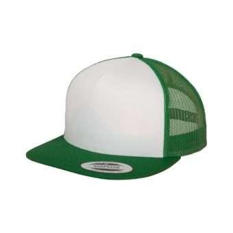 Snapback Cap Classic Trucker grün, ajustable