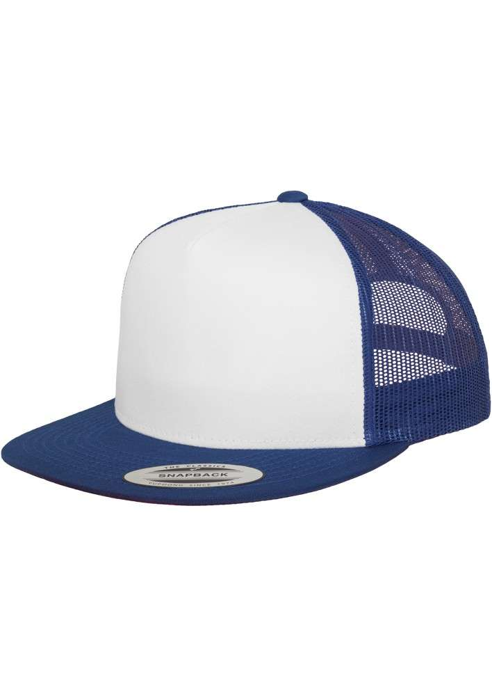 Snapback Cap Classic Trucker Blau, ajustable