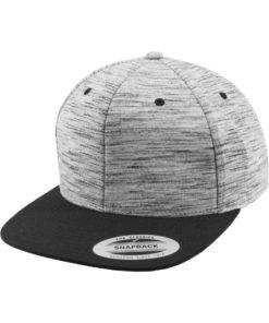 Snapback Cap Melange/Schwarz 6 panneaux, ajustable