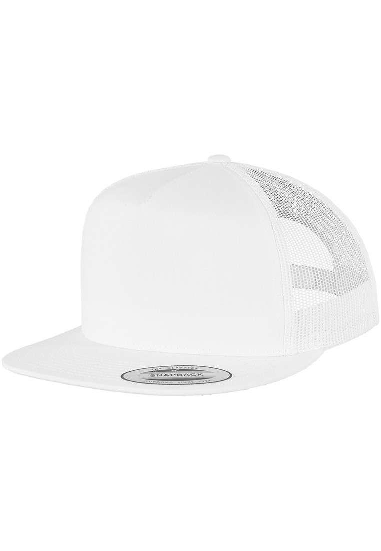 Snapback Cap Classic Trucker Weiß, ajustable