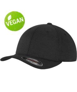 Flexfit Vegan/Bambus Schwarz 6 PANNEAUX - Fitted