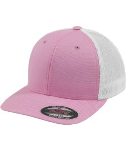 Flexfit Cap Trucker Mesh Pink/Weiß - Fitted