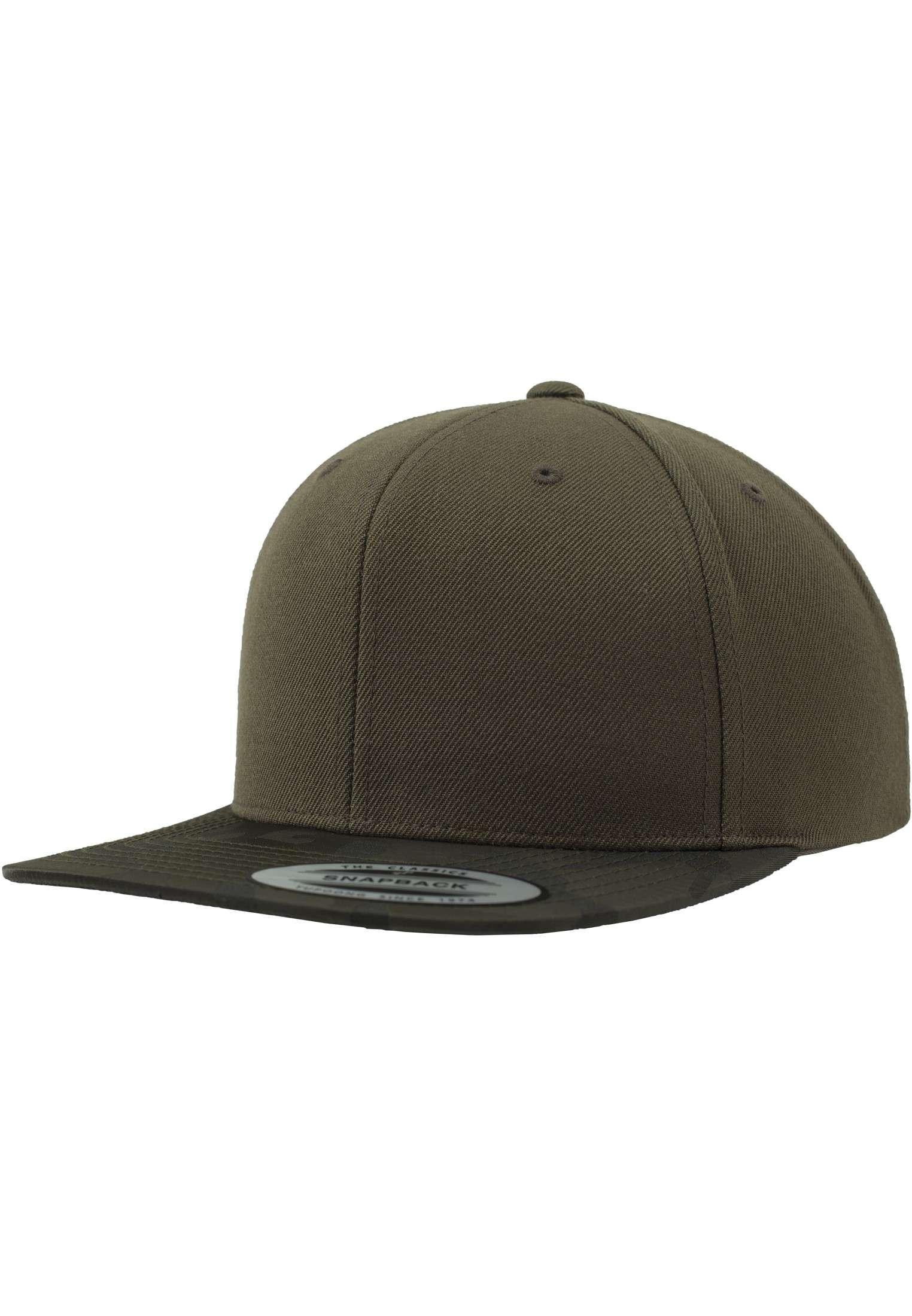 Snapback Cap Camo Olive 6 panneaux, ajustable