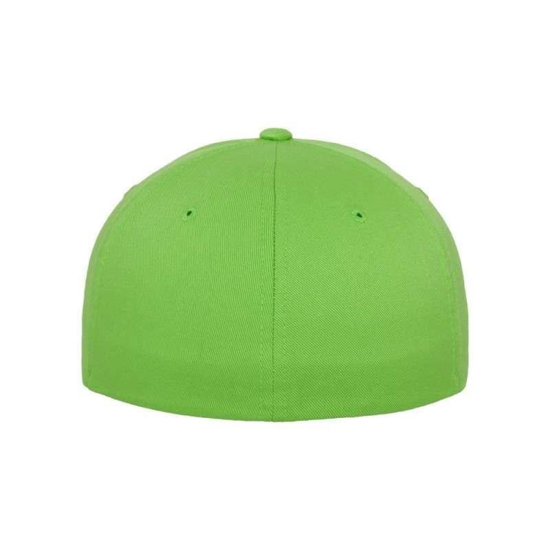 Flexfit Cap Giftgrün Wollmischung 6 PANNEAUX - Fitted Ansicht hinten