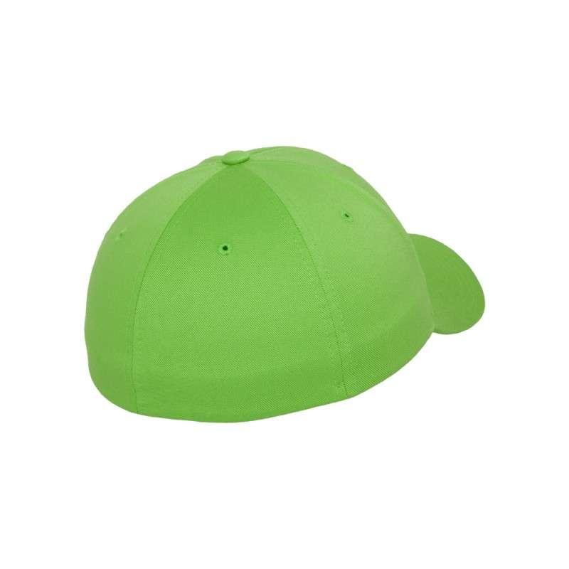 Flexfit Cap Giftgrün Wollmischung 6 PANNEAUX - Fitted Seitenansicht hinten