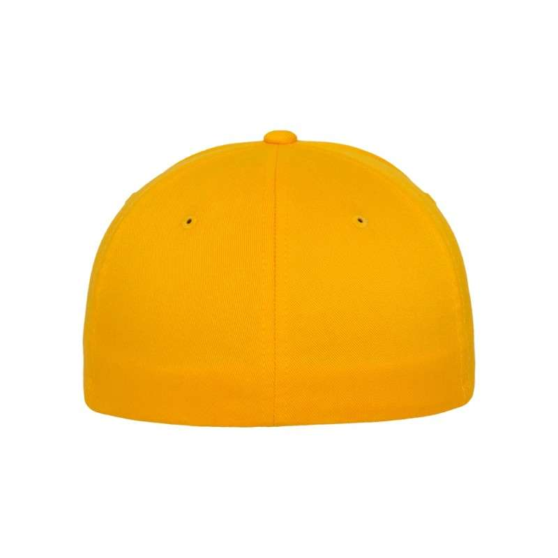 Flexfit Cap Gold Wooly Combed - Fitted Ansicht hinten