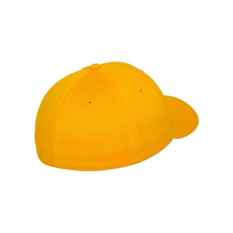 Flexfit Cap Gold Wooly Combed - Fitted Seitenansicht hinten