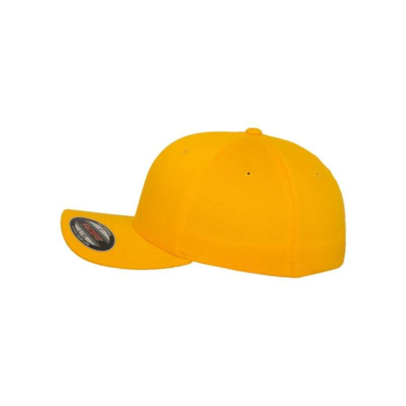 Flexfit Cap Gold Wooly Combed - Fitted Seitenansicht links