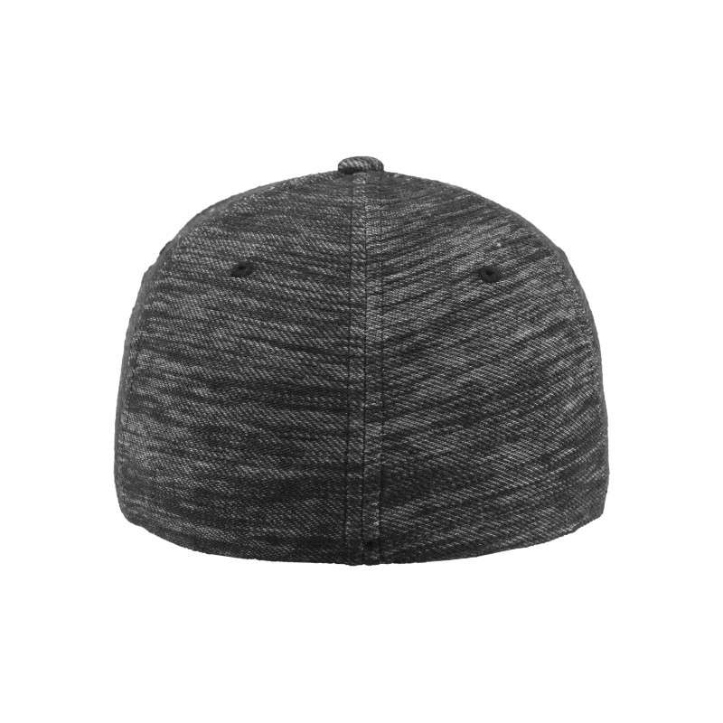 Flexfit Cap Grau Meliert Twill Knit - Fitted Ansicht hinten