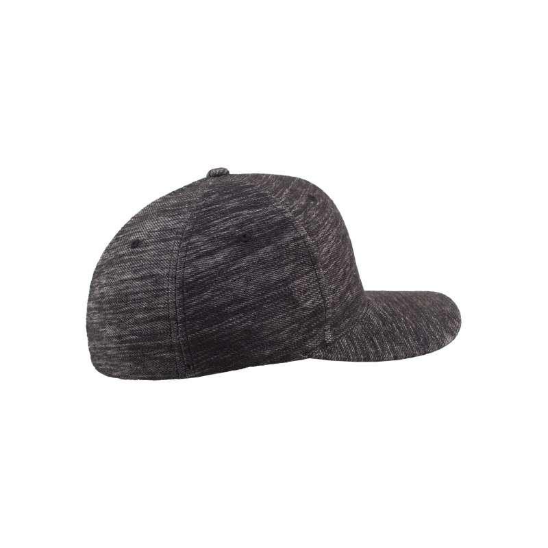 Flexfit Cap Grau Meliert Twill Knit - Fitted Seitenansicht rechts