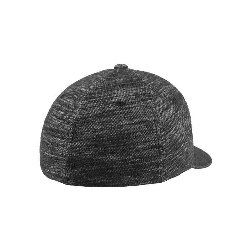 Flexfit Cap Grau Meliert Twill Knit - Fitted Seitenansicht hinten