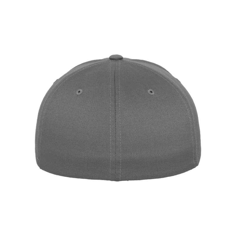 Flexfit Cap Grau Wollmischung 6 PANNEAUX - Fitted Ansicht hinten
