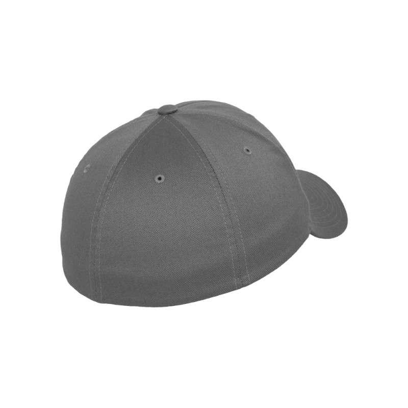 Flexfit Cap Grau Wollmischung 6 PANNEAUX - Fitted Seitenansicht hinten