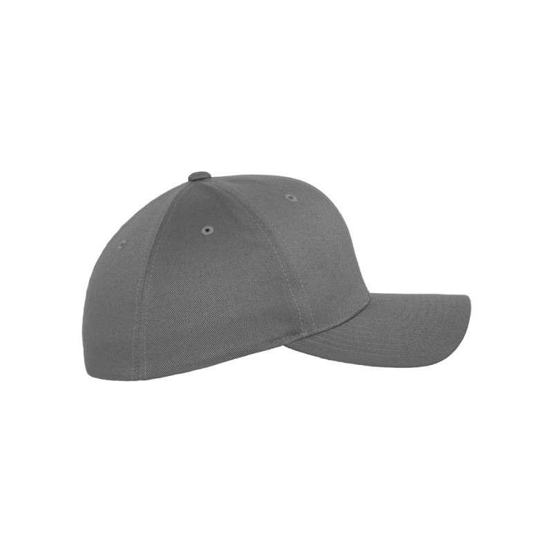 Flexfit Cap Grau Wollmischung 6 PANNEAUX - Fitted Seitenansicht rechts