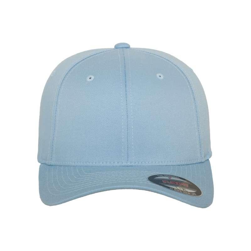 Flexfit Cap Hellblau Wollmischung 6 PANNEAUX - Fitted Ansicht vorne
