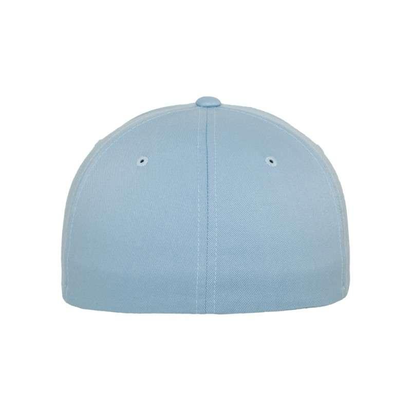 Flexfit Cap Hellblau Wollmischung 6 PANNEAUX - Fitted Ansicht hinten