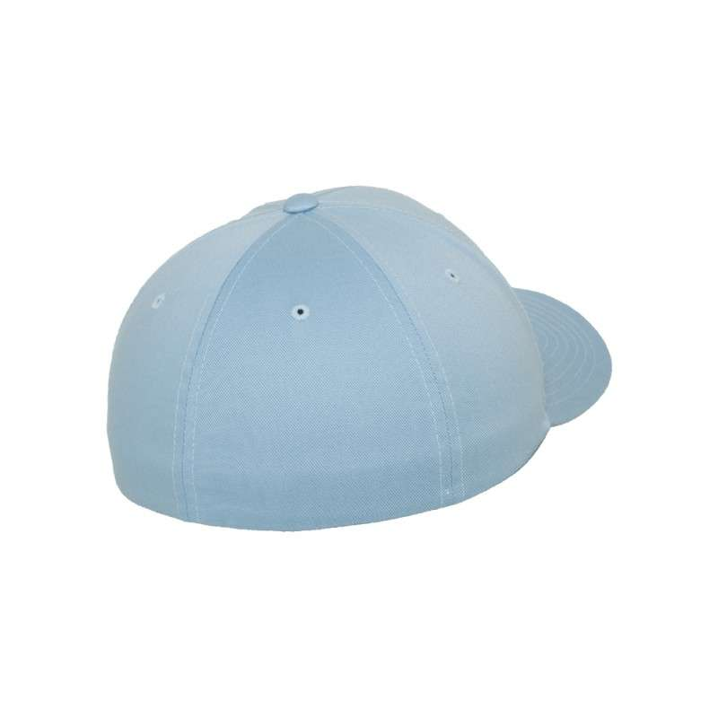 Flexfit Cap Hellblau Wollmischung 6 PANNEAUX - Fitted Seitenansicht hinten