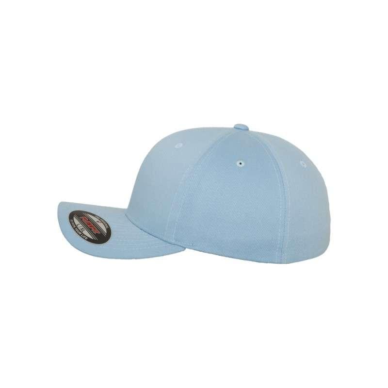 Flexfit Cap Hellblau Wollmischung 6 PANNEAUX - Fitted Seitenansicht links