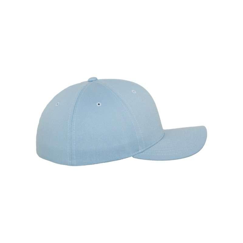 Flexfit Cap Hellblau Wollmischung 6 PANNEAUX - Fitted Seitenansicht rechts