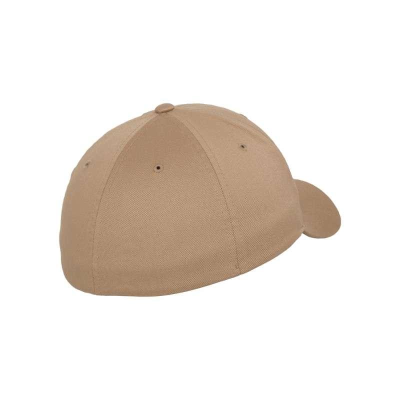 Flexfit Cap Hellbraun Wollmischung 6 PANNEAUX - Fitted Seitenansicht hinten
