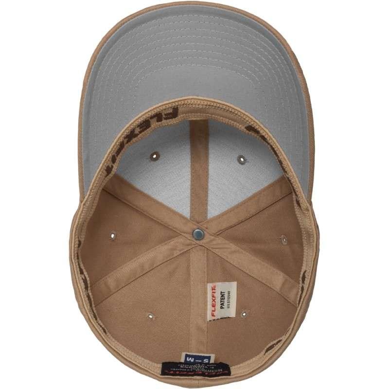 Flexfit Cap Hellbraun Wollmischung 6 PANNEAUX - Fitted Ansicht innen