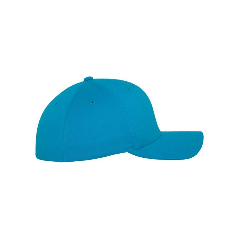 Flexfit Cap Ozeanblau Wooly Combed flauschig gekämmt Fitted rechte Ansicht
