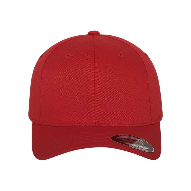 Flexfit Cap Rot Wollmischung - Fitted Ansicht vorne