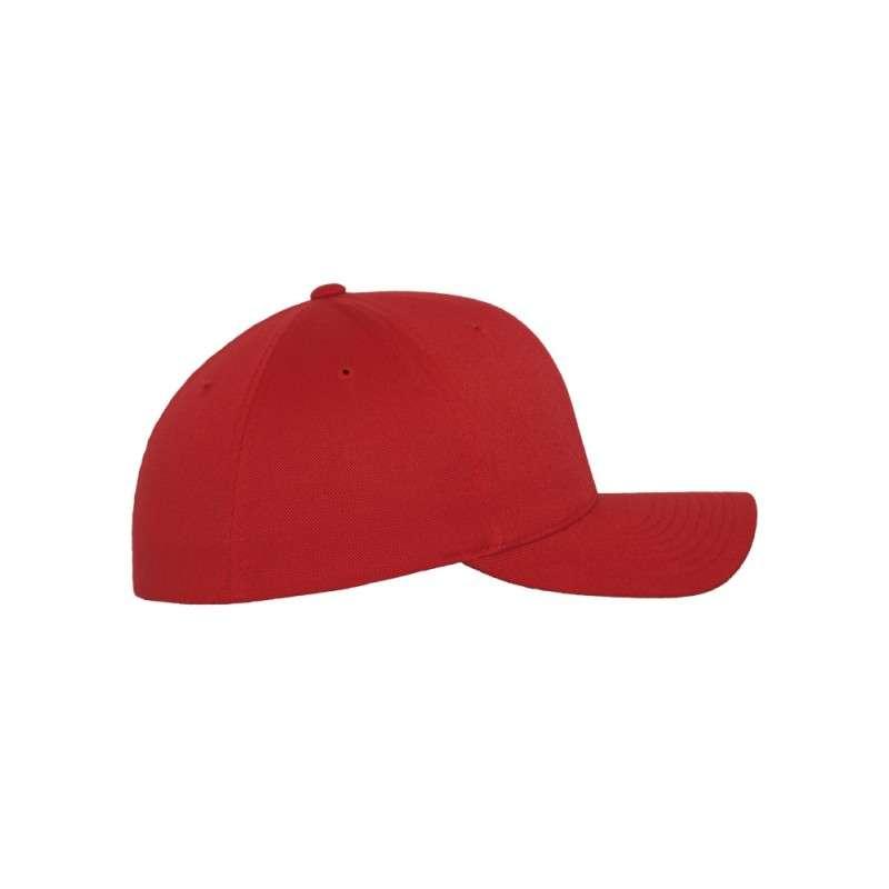 Flexfit Cap Rot Wollmischung - Fitted Seitenansicht rechts
