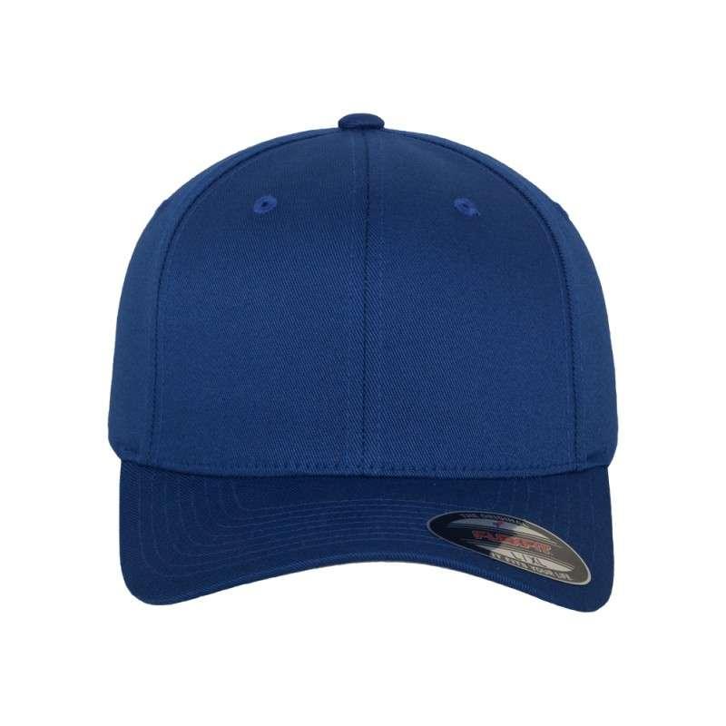 Flexfit Cap Royalblau Wollmischung 6 PANNEAUX - Fitted Ansicht vorne