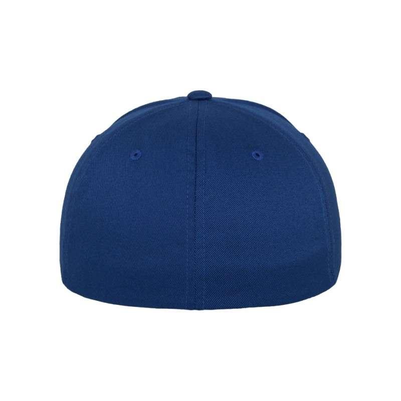 Flexfit Cap Royalblau Wollmischung 6 PANNEAUX - Fitted Ansicht hinten