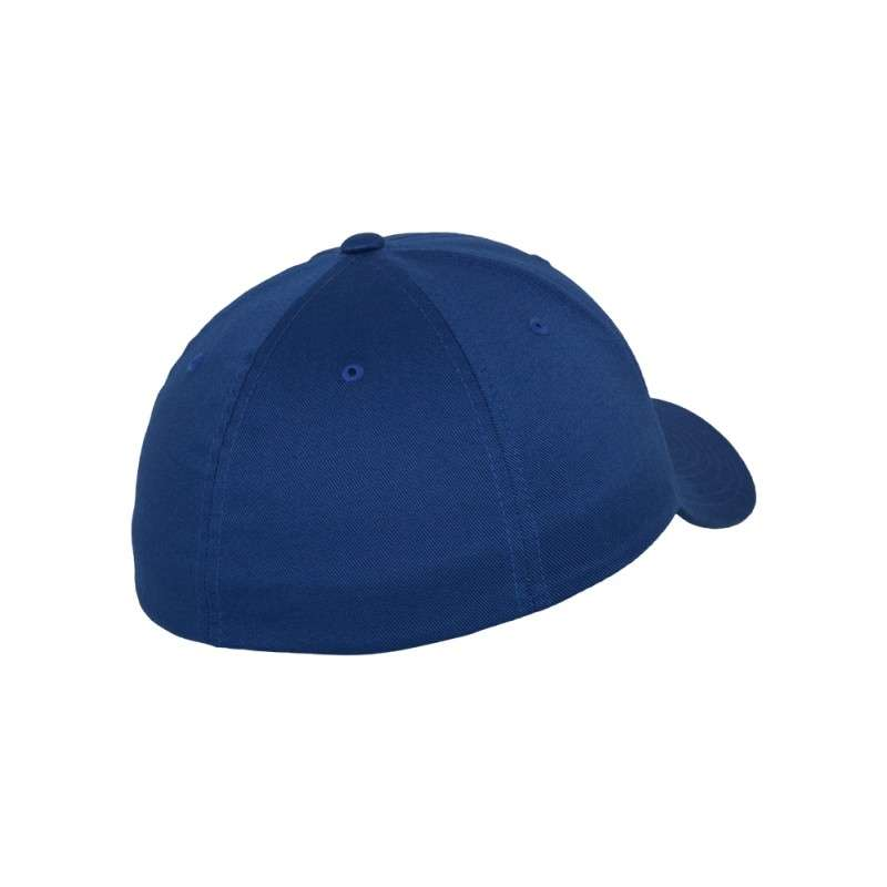 Flexfit Cap Royalblau Wollmischung 6 PANNEAUX - Fitted Seitenansicht hinten