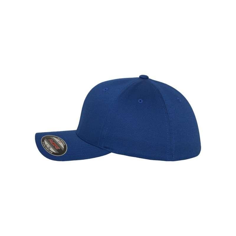 Flexfit Cap Royalblau Wollmischung 6 PANNEAUX - Fitted Seitenansicht links