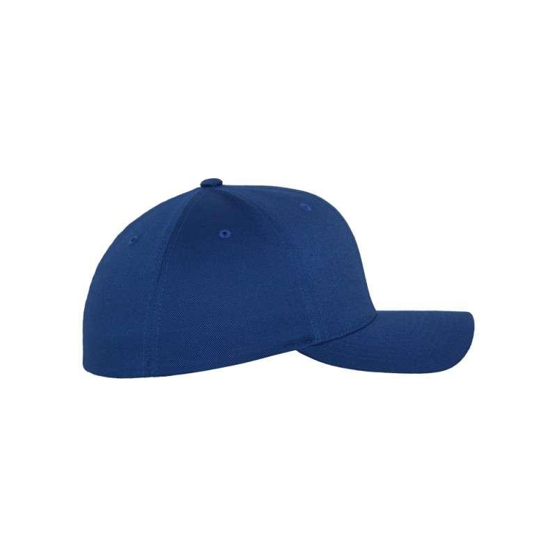 Flexfit Cap Royalblau Wollmischung 6 PANNEAUX - Fitted Seitenansicht rechts