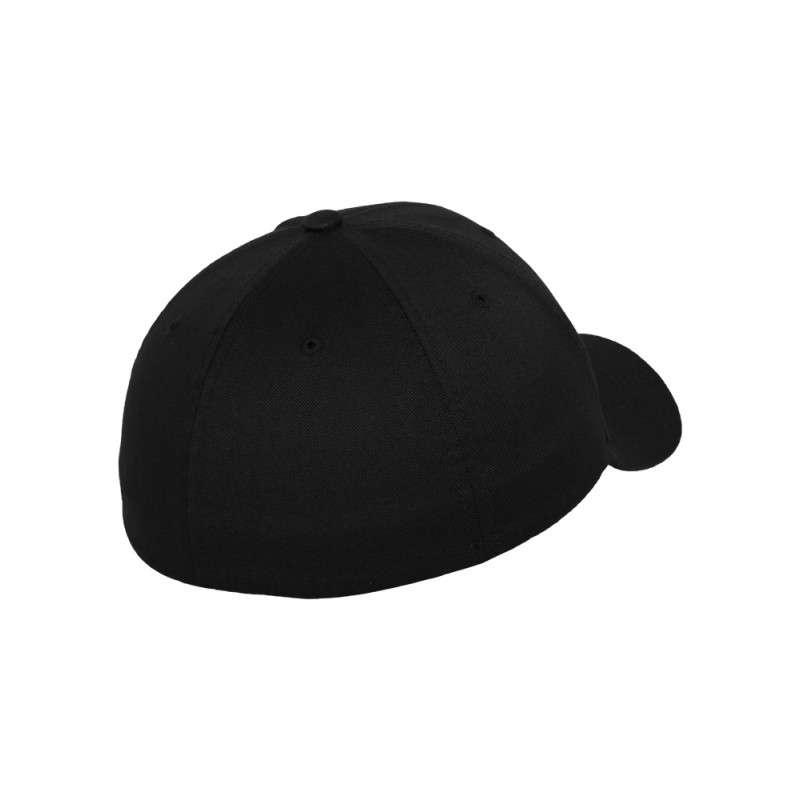 Flexfit Cap Schwarz Karbon 6 PANNEAUX - Fitted Seitenansicht hinten