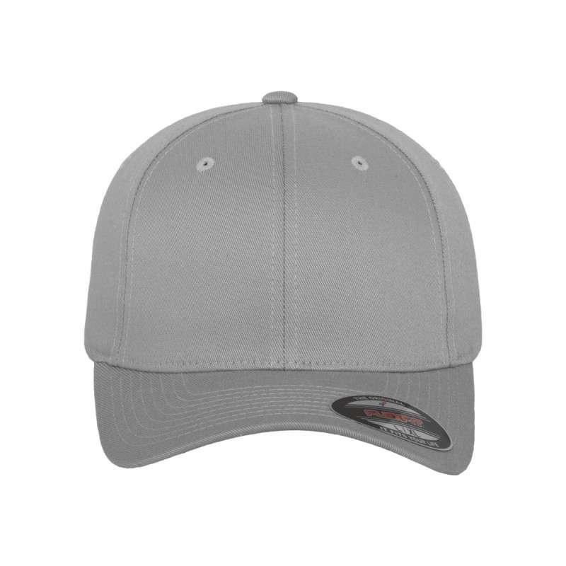 Flexfit Cap Silber Wollmischung - Fitted Ansicht vorne