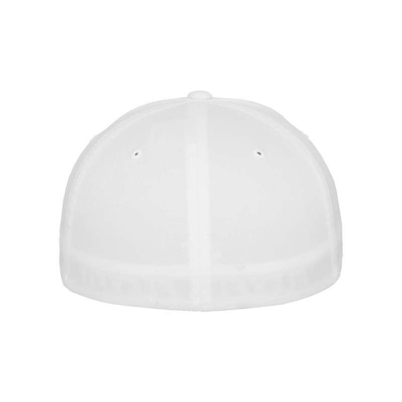 Flexfit Cap Weiß Wollmischung 6 PANNEAUX - Fitted Ansicht hinten