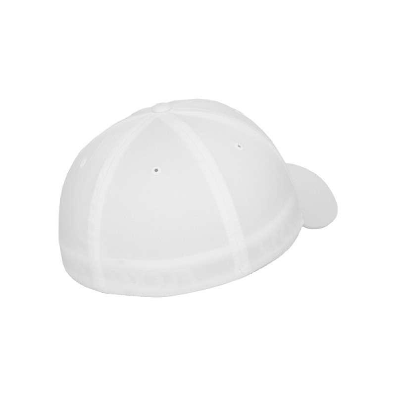 Flexfit Cap Weiß Wollmischung 6 PANNEAUX - Fitted Seitenansicht hinten